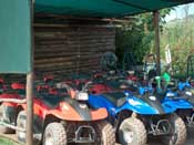 Quads parked