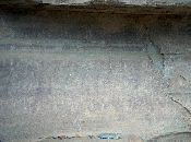 Bushman's Paintings: The stones lying are the tools they used for drawing.