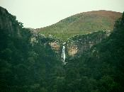 Tugela Falls which cascade 800 m over the edge of the amphitheatre.